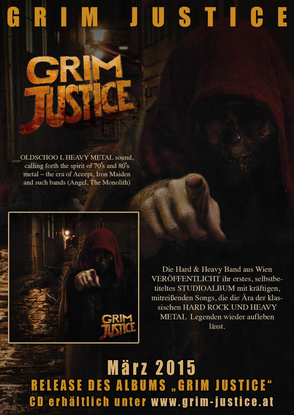 Album Grim Justice Flyer
